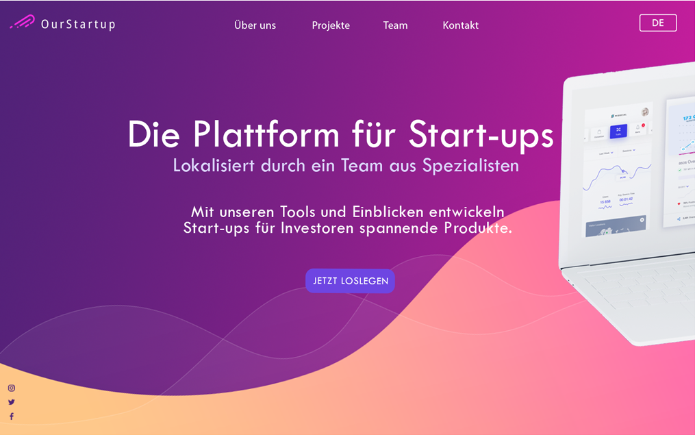 Web App Localization German