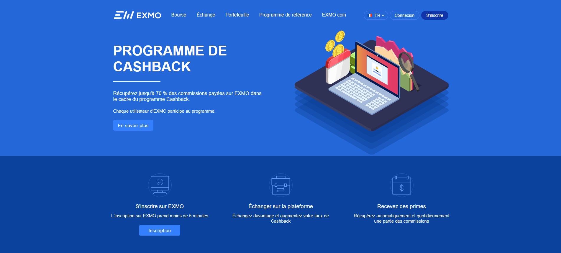 Cashback page in FR