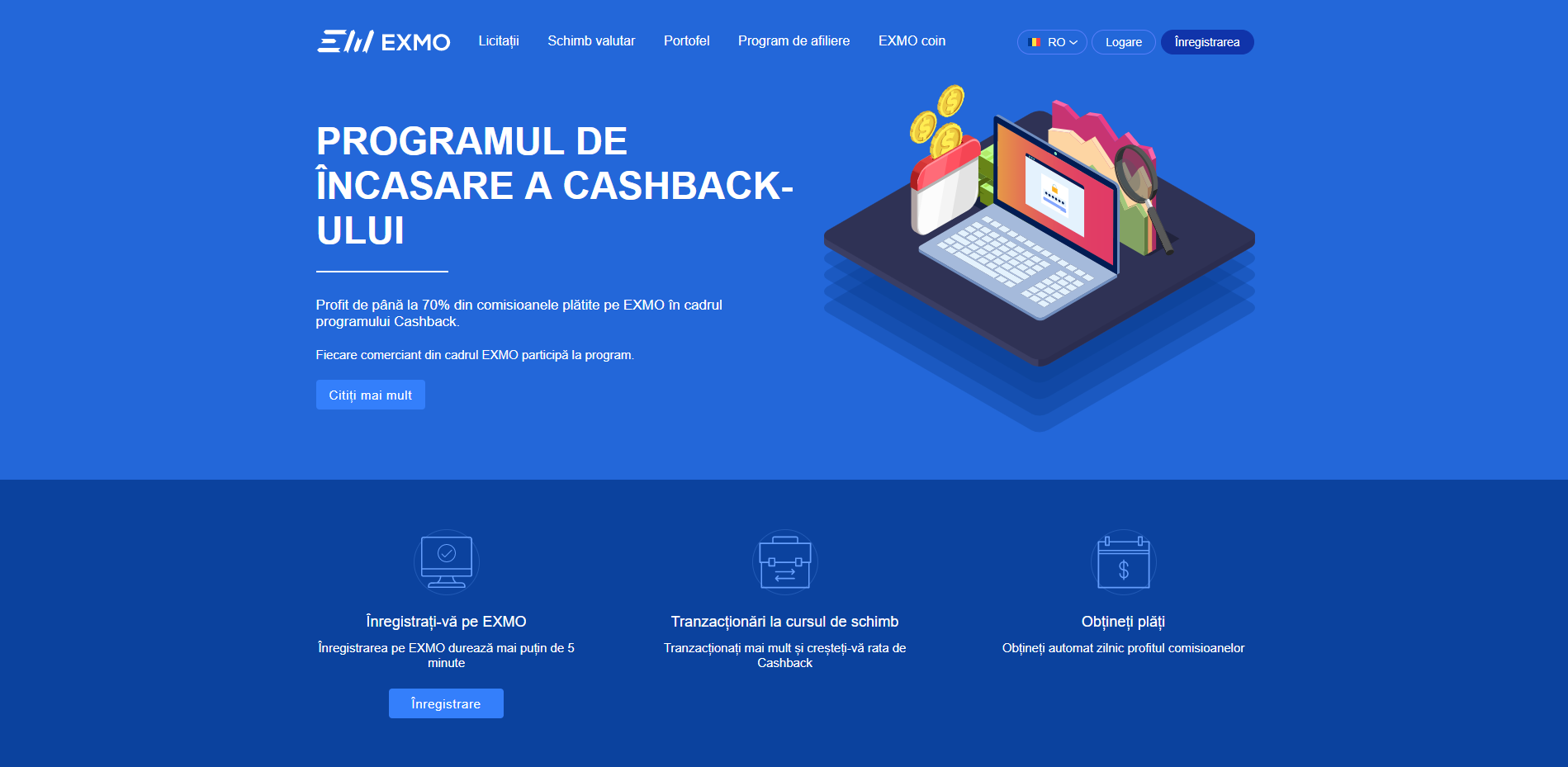 Cashback page in RO