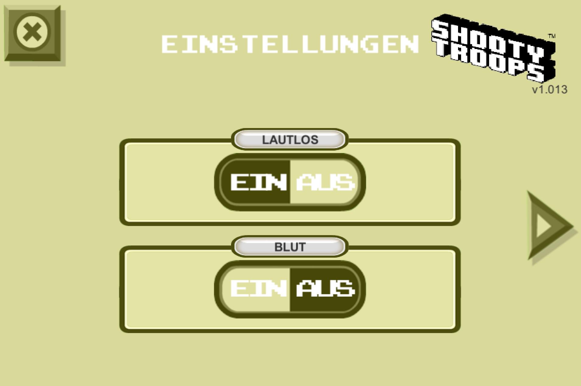 Settings in German